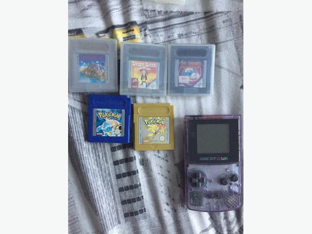 gameboy colour + 5 games