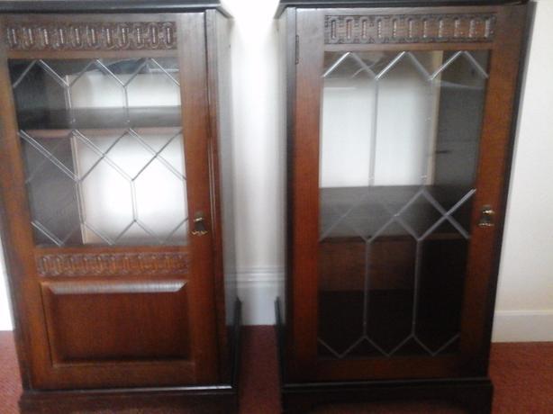 2 newplan glass cabinets