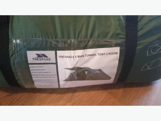 trespass 6 man tunnel tent