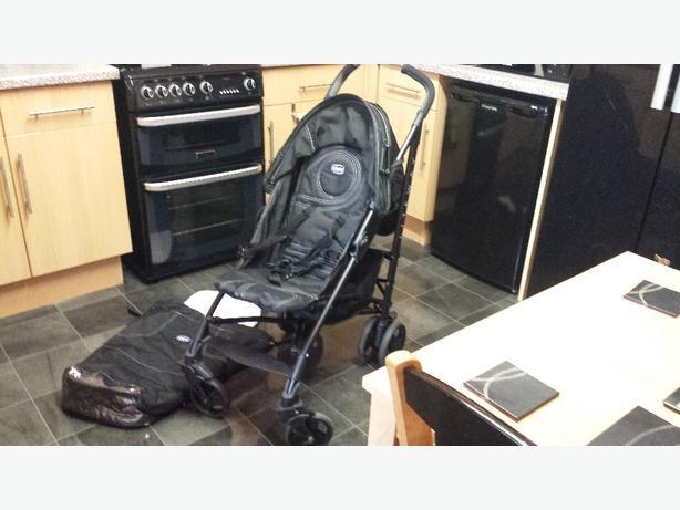 chicco black stroller