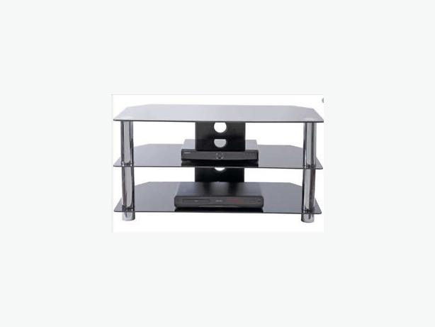 black glass 42inch tv stand