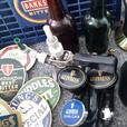 large selection of brewery memorabilia