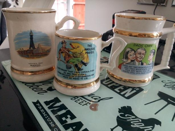 3 prince william ware mugs