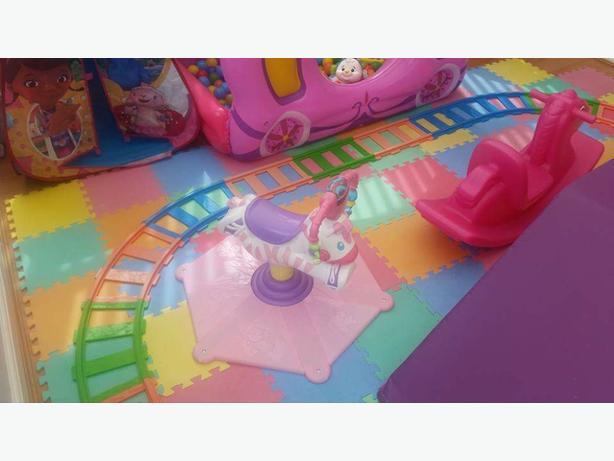 Pink bouncing zebra