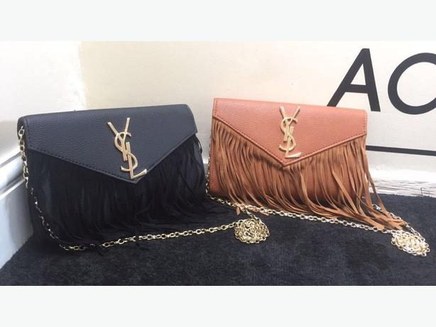 YSL SAINT LAURENT MONOGRAM Clutch Bag Louis Vuitton GUCCI Chanel Prada Givenchy