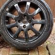 "Peugeot 206 16"" Nimrod Alloy Wheels x 4 Black"