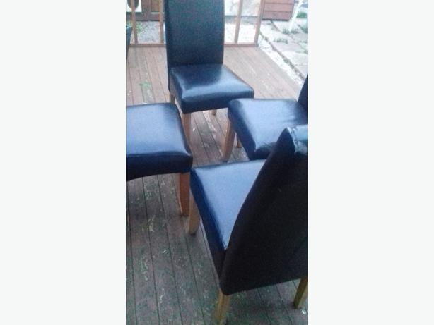 table & 4 leather chairs