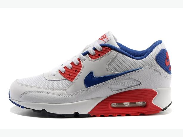 NIKE AIRMAX 90's Brand New Unopened Size 7-8-9-10-11 White/blue/red