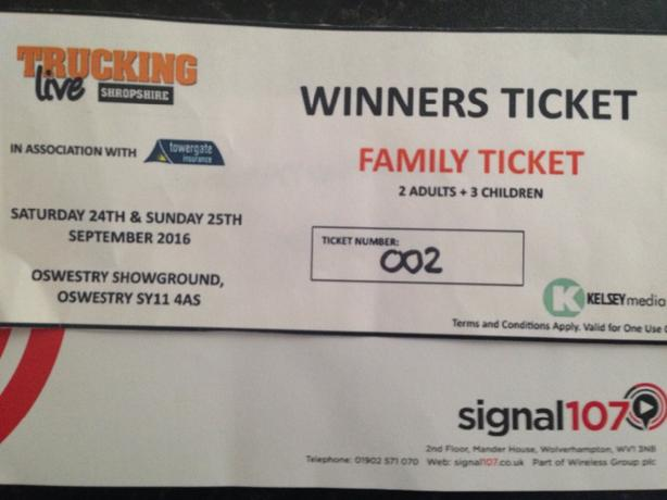 family ticket for trucking live oswestry today