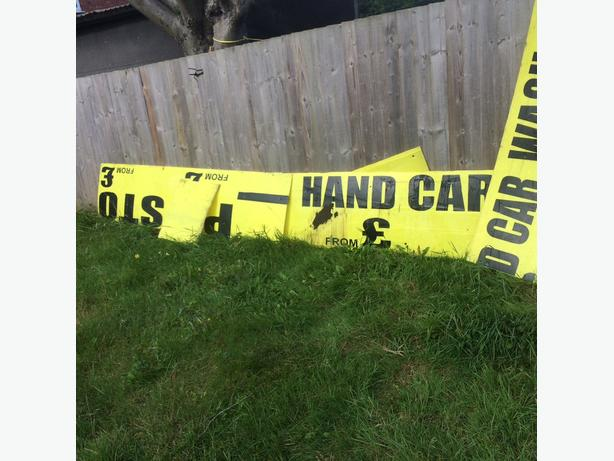 ** bargian*** hand carwash signboards