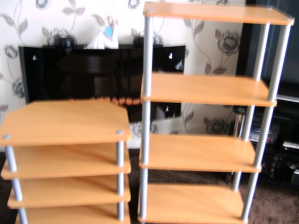 TWO FOUR TIER SHELVES