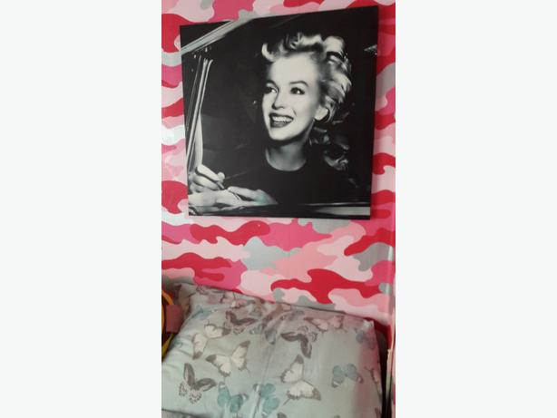 Two Marilyn Monroe large canvases