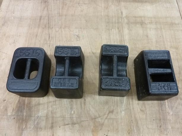 4 x 56lb Weights Antique
