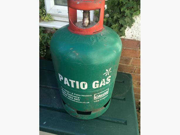 13 kg calor patio gas/green bottle nearly empty