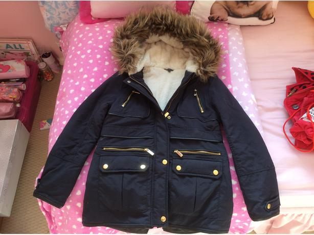 Navy Winter Coat age 10-11years