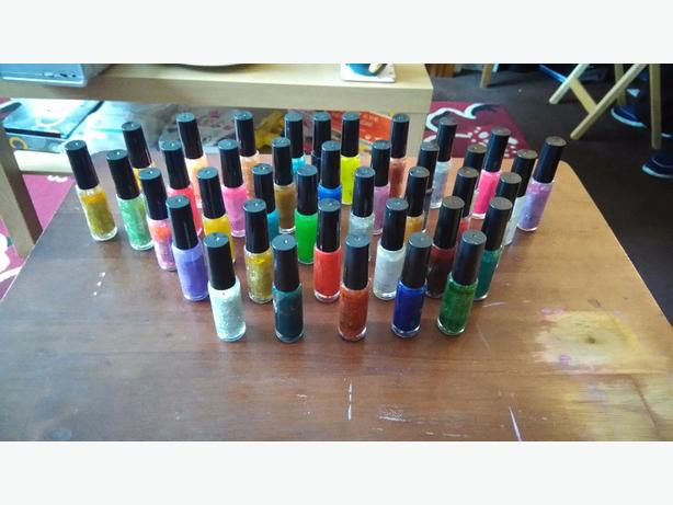 nail varnishes and nail art pens