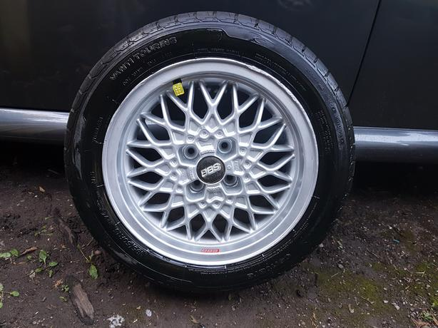Set of 4 BBS alloy wheels 195/50R/15,15 inches will fit vw/fiat/vauxhall,etc