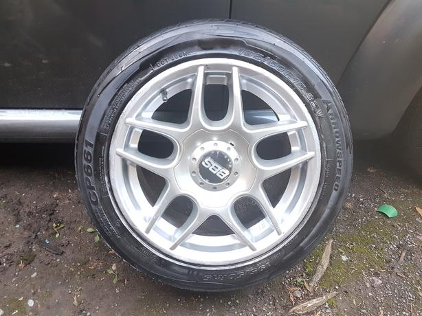 Set of 4 BBS alloy wheels 195/50R/15, will fit vw/fiat/vauxhall,etc,15 inches