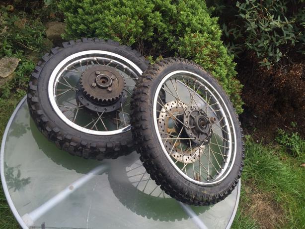 Set of pit Bike wheels