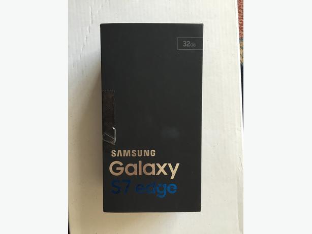 NEW BOXED 32GB Samsung Galaxy S7 edge,UNLOCKED,underwarranty,BLACK color