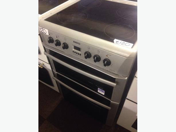 BEKO 60CM DOUBLE OVEN ELECTRIC COOKER0