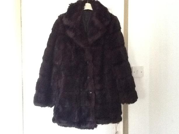 Fake fur coat.