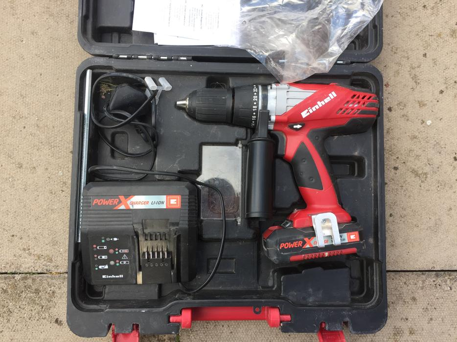 einhell cordless impact drill 18v lithium battery fully working great barr dudley. Black Bedroom Furniture Sets. Home Design Ideas
