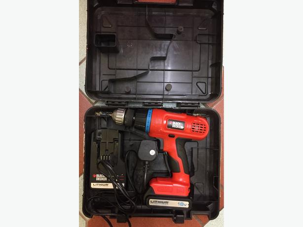 Black & Decker 18v Lithium Battery Cordless Drill, Fully working. NO OFFERS