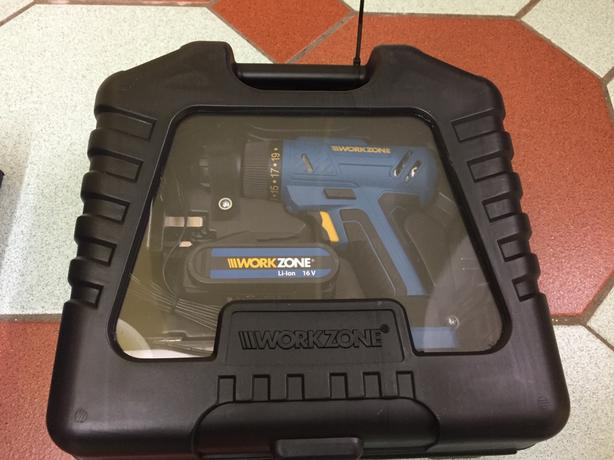 Brand New 16v Work Zone Combi Drill, Lithium Battery. NO OFFERS