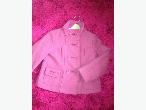 Girls NEXT pink coat size 7-8 years
