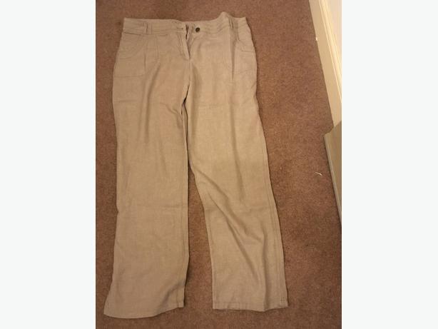 Mataray Linen Blend Trousers