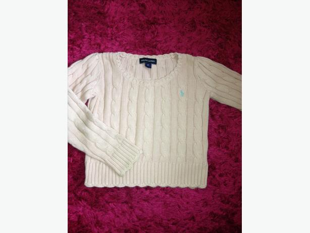 Girls Ralph Lauren Pink Cable Knit Jumper 4 / 4T