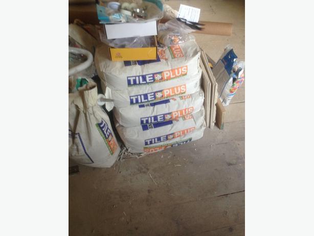 5 bags of ceramic floor tile adhesive