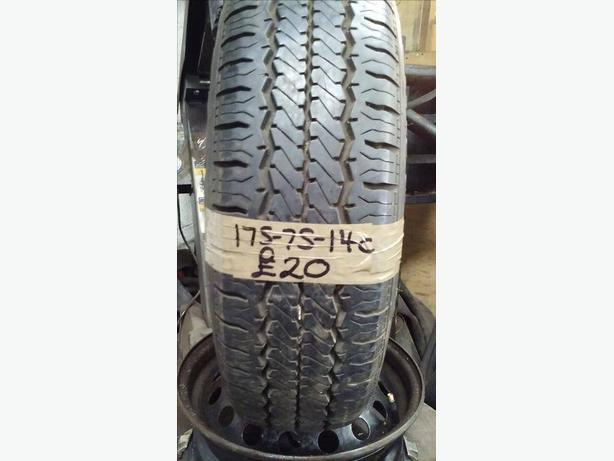 175-75-14c Hankook 99/98Q 8mm Part Worn Tyre