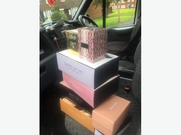 jimmy choo, chanel, perfume and gift sets