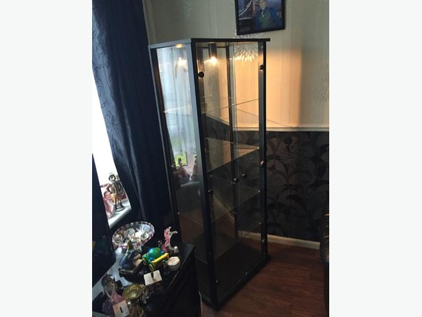 Glass light up Cabinet with Mirrored back
