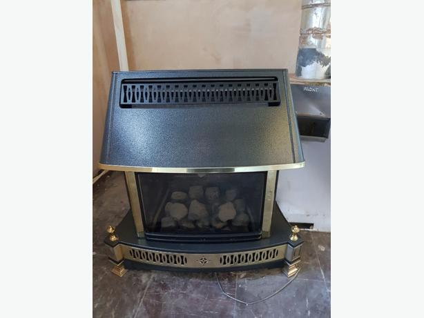 gas fire and back box