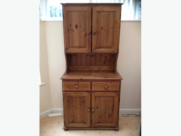 Wood pine dresser.