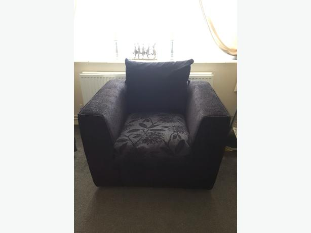 Black & Grey Floral Armchair  £50.00 O.N.O