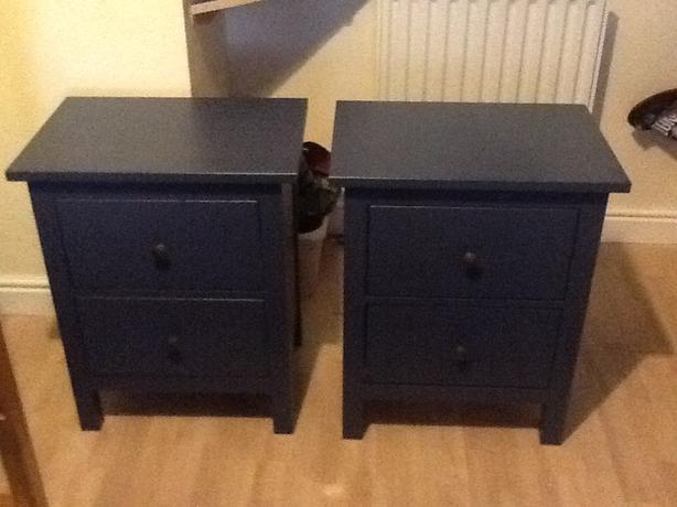 Ikea Hemnes Bedside Tables x 2 Blue