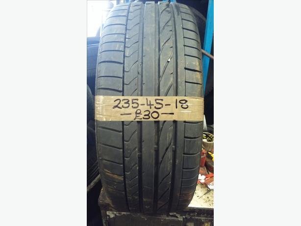 235-45-18 Bridgestone Potenza Re050a 94w 6.5mm Part Worn Tyre