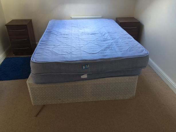 double bed and single bed with mattress