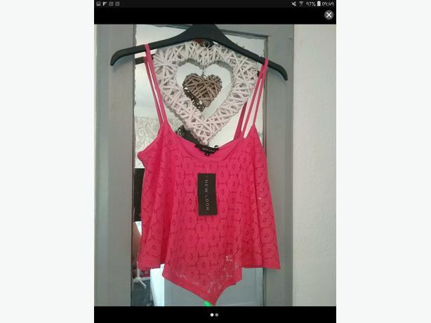 Size 10 new look crop top bnwt