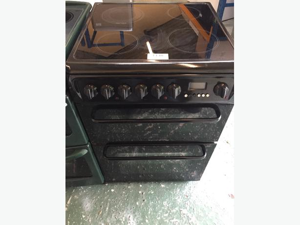 black hotpoint 60cm cooker free delivery