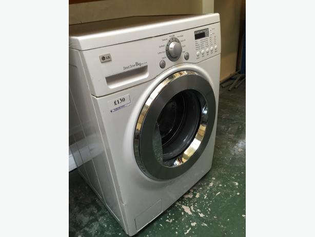 8kg lg direct driver washer free delivery
