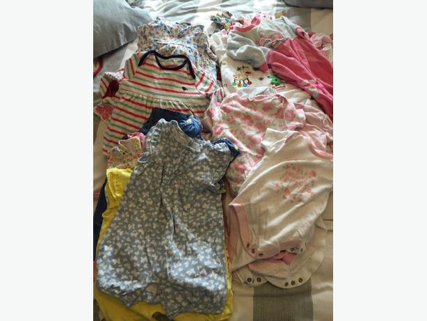 baby girls 3-6 month clothing bundle