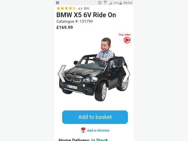 Bmw X5 6V Ride-On