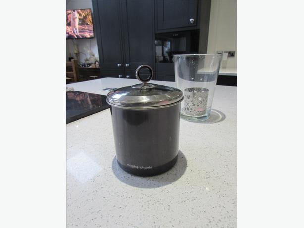 Morphy Richards Accents Large Storage Canister with Glass Lid - black/grey