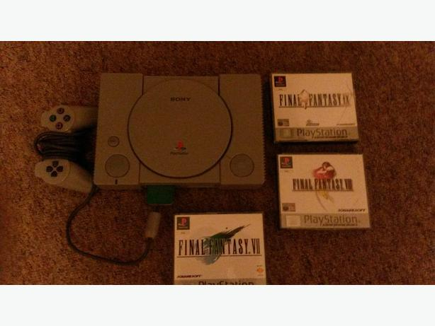 playstation 1 with final fantasys
