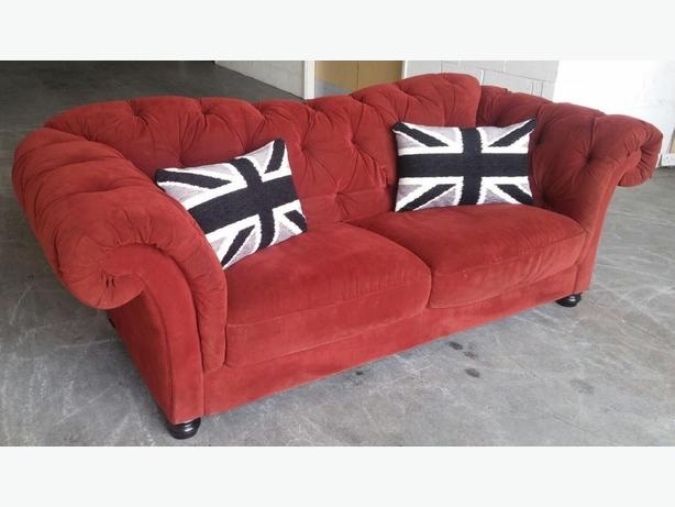 HUGE Chesterfield 3 Seater Sofa (maybe Laura Ashley or similar brand).WE DELIVER